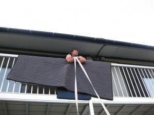 吊り作業直前の班長シーン
