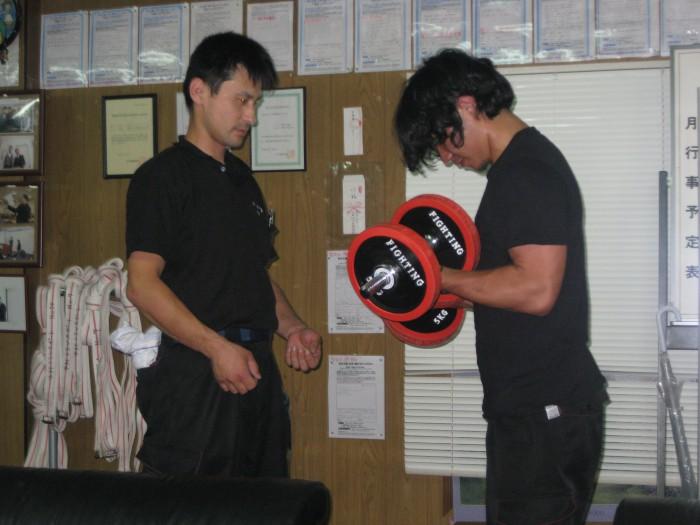 ウエイトトレーニング基礎講習シーン