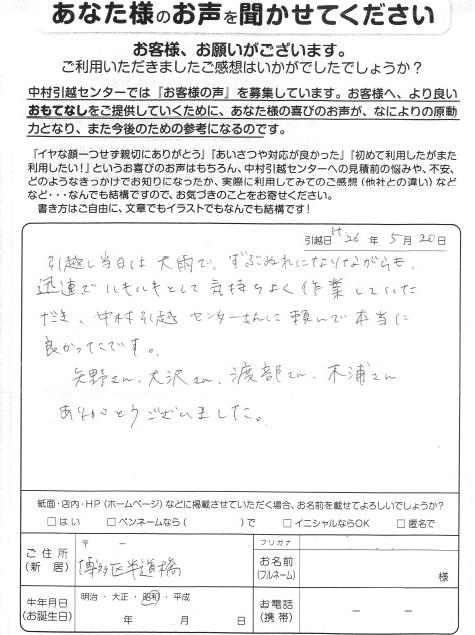 営業:中山 作業:渡部 矢野 木浦 大澤