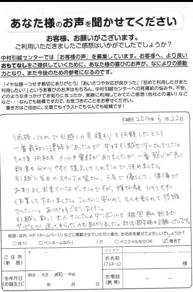 営業:椛山 作業:渡部 木浦 松枝